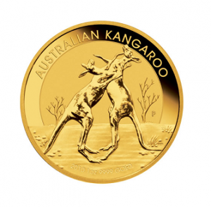 The Reverse of the Australian Gold Kangaroo