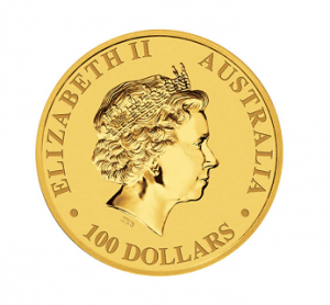 The Obverse of the Australian Gold Kangaroo