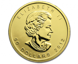 The Obverse of the Canadian Gold Maple Leaf
