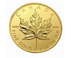 The Reverse of the Canadian Gold Maple Leaf