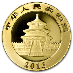 The Reverse of the Chinese Gold Panda
